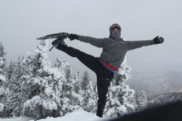 josh snowshoe pose