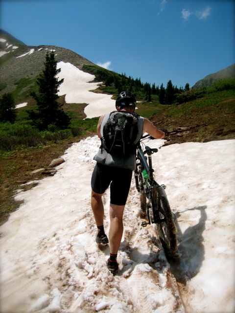 celebrating freedom;  4,600′ of high altitude sweat salutes; Kennebec Pass mountain bike ride
