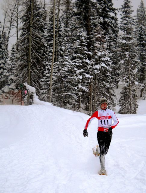 Race Update:   Today's Winter Warrior Snowshoe Race gets NUKED by new snow and plasters everyone with JOY!