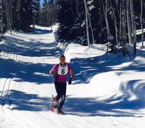 Durango's Kathryn Ross breaks her own Course Record at the 7th Annual Winter Warrior 10k. pic by Sandra Lee